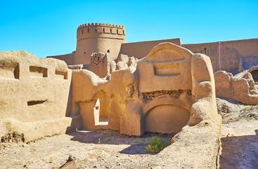 Archaeological site of adobe Rayen citadel, Iran