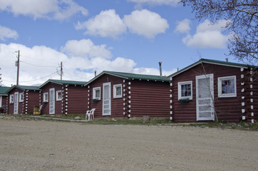 Log Cabins in a Row