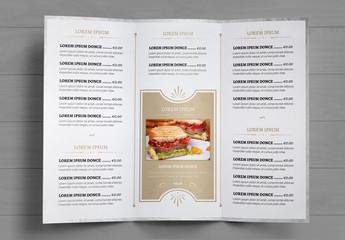 Juego de menús de restaurante con diseño jaspeado