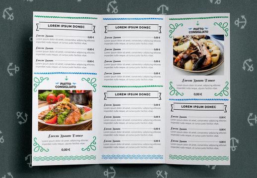 Set marchio ristorante di pesce