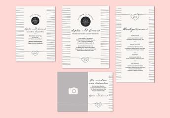 Schlichtes Hochzeitskartenset