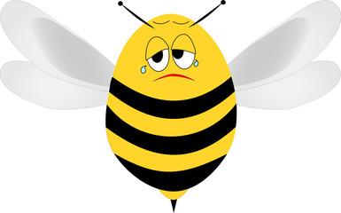 Traurige Biene