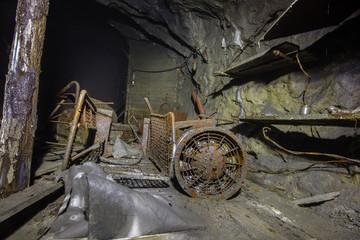 Underground old ore gold mine tunnel shaft passage mining technology stuff