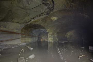 Underground old ore gold mine tunnel shaft passage mining technology flooded submerged