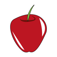 Apple cartoon isolated vector illustration graphic design
