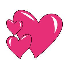 Lovely hearts cartoon vector illustration graphic design