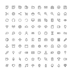 hundred basic vector icons