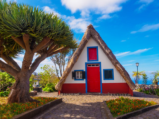 Traditional house of Santana village, Madeira island of Portugal