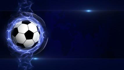 SOCCER BALL Computer Graphics Background, Sport Illustration
