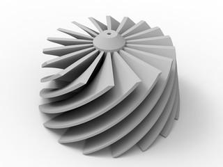 3D render - helix propeller
