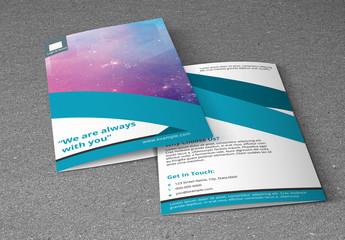 Business Brochure Layout with Blue Accents