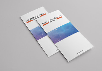 Business Brochure Layout with Orange Accents