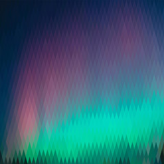 Northern lights, abstract graphic background, from a diamond of different colors (square format)