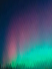 Northern lights, abstract polygon background, from a rhombus of different colors (vertical format)
