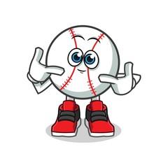 cute baseball mascot vector cartoon illustration