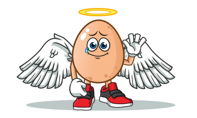 egg after death america vector cartoon illustration