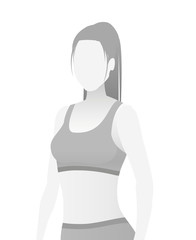 Default placeholder fitness trainer in a T-shirt.