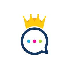 King Chat Logo Icon Design