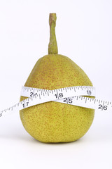 Pear with tape measure