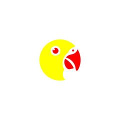 Lovebird logo, colorful design.