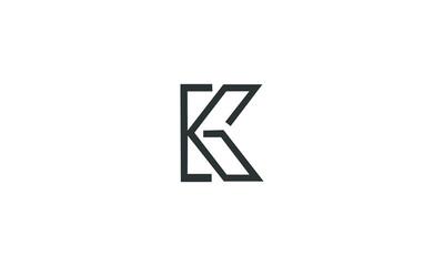 abstract KG logo vector