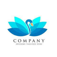 creative and elegant swan logo vector bird logo design