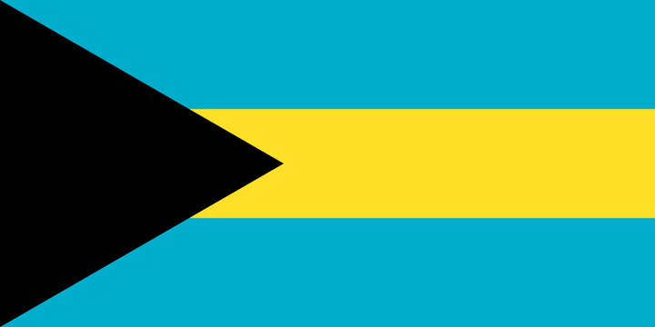 The Flag of Bahamas. National symbol of the state. Vector illustration.