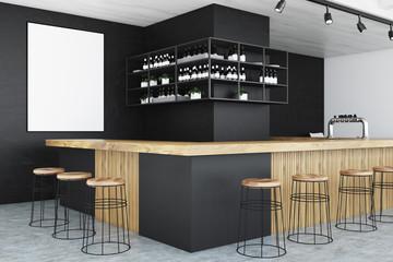 Black bar corner, poster