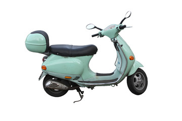 Photo Blinds Scooter green italien scooter