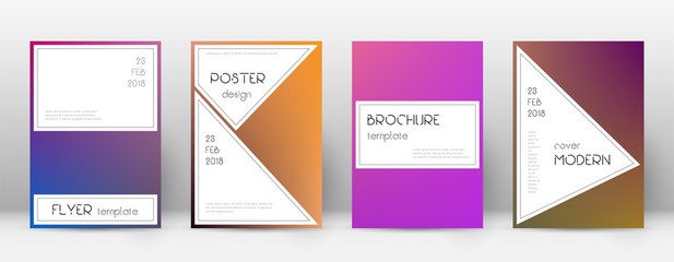 Flyer layout. Stylish fabulous template for Brochure, Annual Report, Magazine, Poster, Corporate Presentation, Portfolio, Flyer. Awesome gradient cover page.