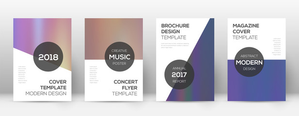 Flyer layout. Modern trending template for Brochure, Annual Report, Magazine, Poster, Corporate Presentation, Portfolio, Flyer. Astonishing bright hologram cover page.