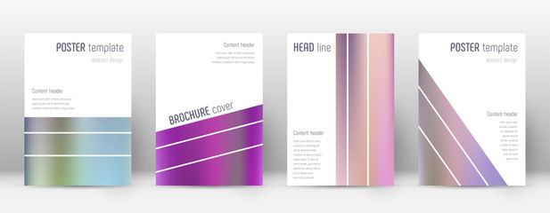 Flyer layout. Geometric nice template for Brochure, Annual Report, Magazine, Poster, Corporate Presentation, Portfolio, Flyer. Alive color gradients cover page.
