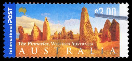 AUSTRALIA - CIRCA 2000: A Stamp printed in AUSTRALIA shows the Desert, Panorama of Australia series, circa 2000