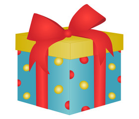 Gift box vector - Birthday present