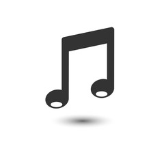 Music icon. Vector illustration, flat design.