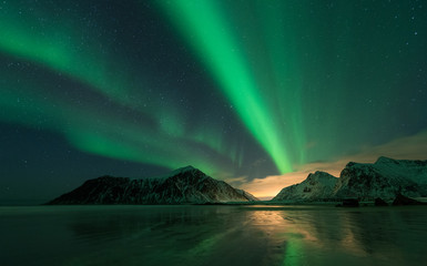 Northern lights in the Lofoten Islands