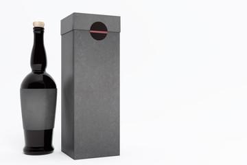 clean alcohol bottle