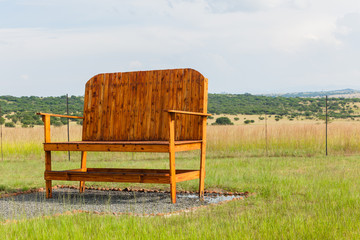 Big Large Giant Wood Chair Outdoors Farmlands