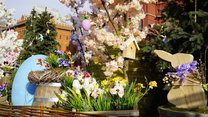 Easter Day in Moscow Russia