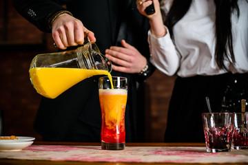 Master Class in preparing in beer cocktail