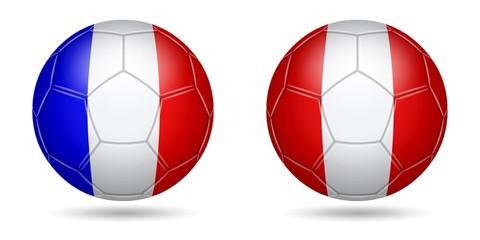 Football. 2018. France, Peru