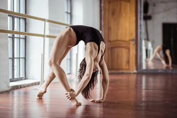 Sport girl on training