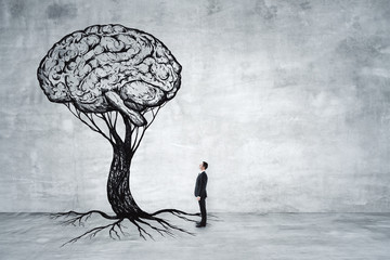 Education, growth, brainstorm and success concept
