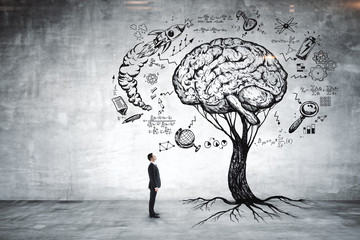 Education, growth, brainstorm and career concept