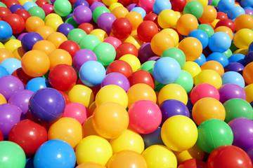 Colorful plastic balls  background