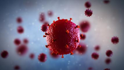 3d illustration of HIV virus. Medical concept