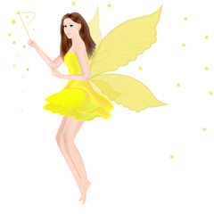 pretty cartoonish girl with butterfly wings,fairy,angel.