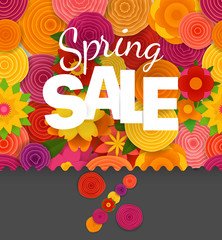 Season sale off vector concept. Spring floral seamless pattern. Vector illustration