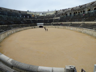 Teatro romano de Nimes,ciudad de la región de Occitania del sur de Francia con importantes restos romanos