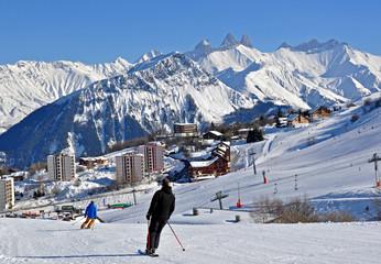 Station de ski dans les alpes